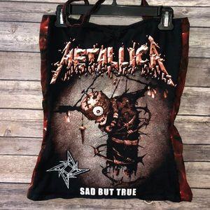 Metallica halter tube top